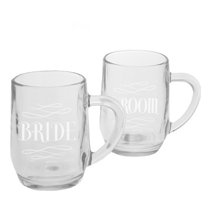 Bride and Groom 9.5 oz White Portable Beverage Mug
