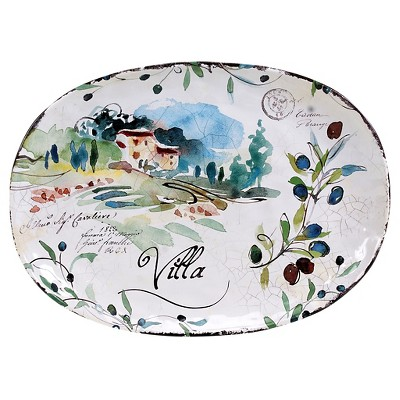 "Certified International Villa Oval Platter 17.25"" x 12.5"""