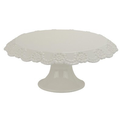 "10 Strawberry Street Lace 12"" Cake Stand - White"