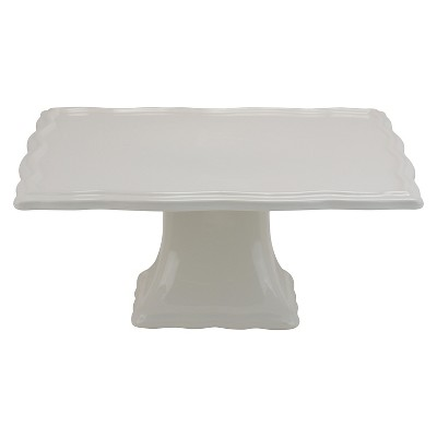 "10 Strawberry Street Whittier 10"" Square Cake Stand - White"
