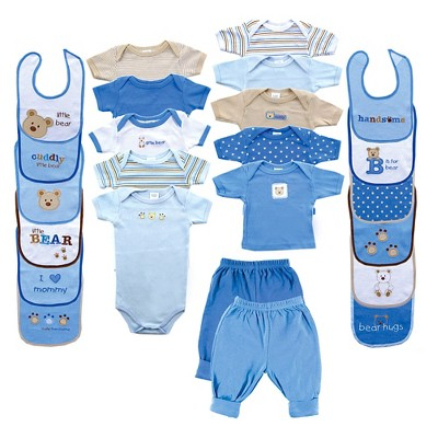 Luvable Friends Baby Boys' 24 Piece Gift Set - Bear