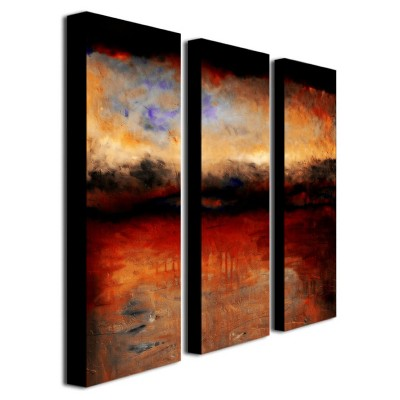 Trademark Global Michelle Calkins 'Red Skies at Night' Canvas Art Set