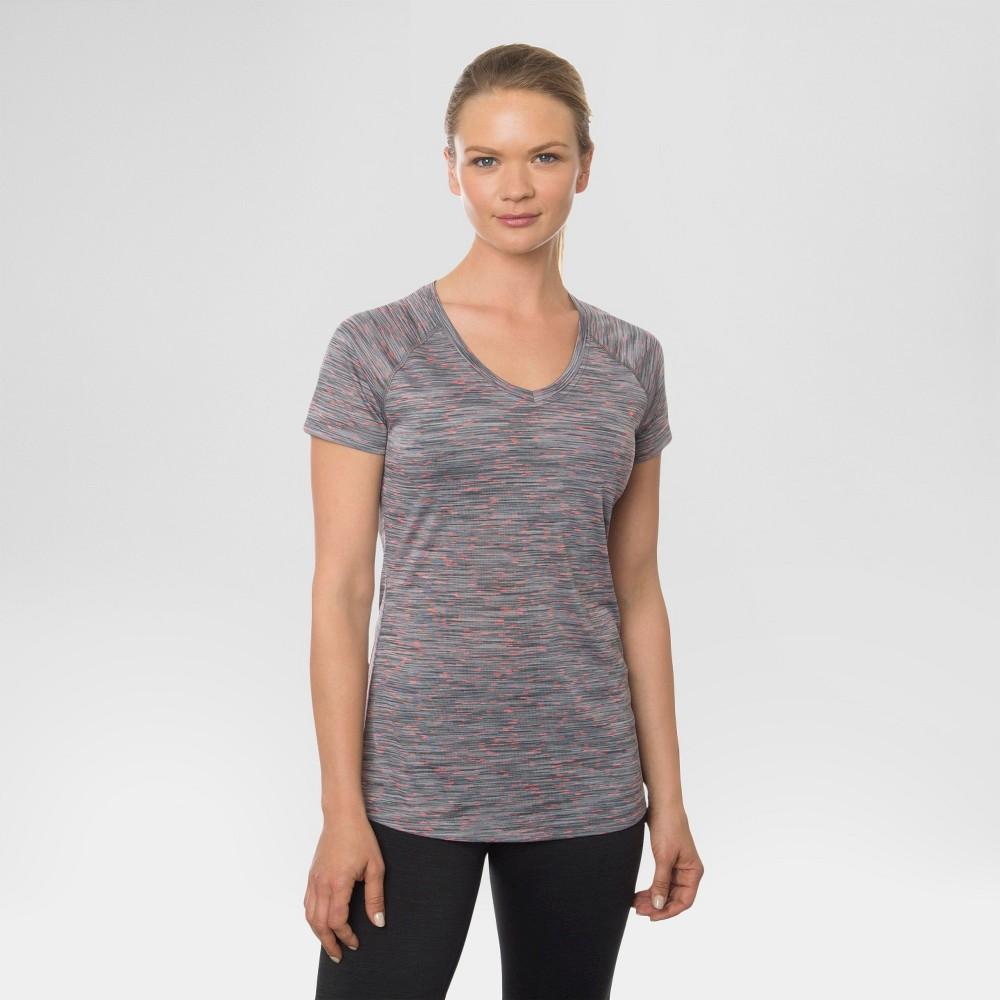 Women's Single Space Dye V-Neck Tee Platinum Grey S - Rbx, Size: Small, Quartz Grey