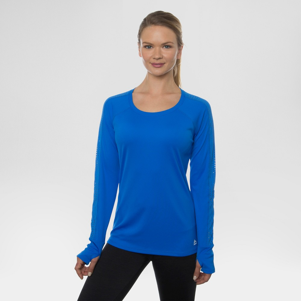 Women's Long Sleeved Laser Cut Crew Tee Astro Blue M - Rbx, Size: Medium, Meteor Blue