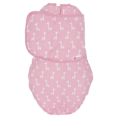 embe® 2-Way Swaddle™ Classic Pink Giraffes - OS