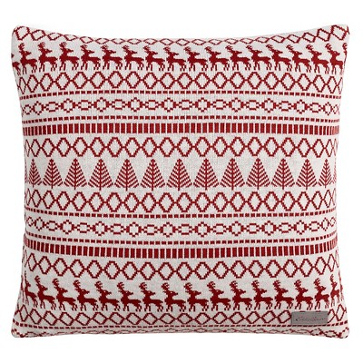 "Alpine Fair Isle Throw Pillow Red Clay (20""x20"") - Eddie Bauer®"