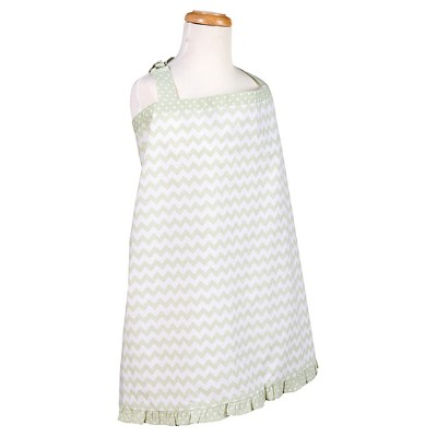 Trend Lab Sea Foam Chevron Nursing Cover - Sage