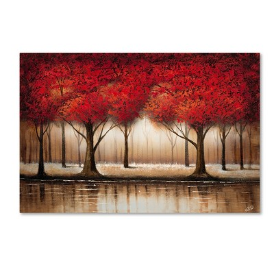 "Trademark Global Rio 'Parade of Red Trees' Canvas Art - 22"" x 32"""