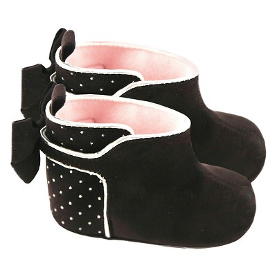 Baby Girls' Rising Star Studded Boot Crib Shoes Black 9-12M