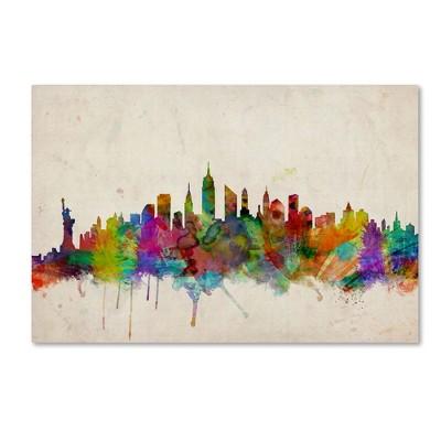 "Trademark Global Michael Tompsett 'New York Skyline' Canvas Art - 16"" x 24"""