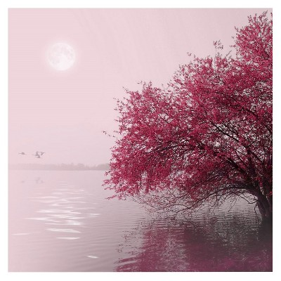 "Trademark Global Philippe Sainte-Laudy 'Full Moon on the Lake' Canvas Art - 18"" x 18"""