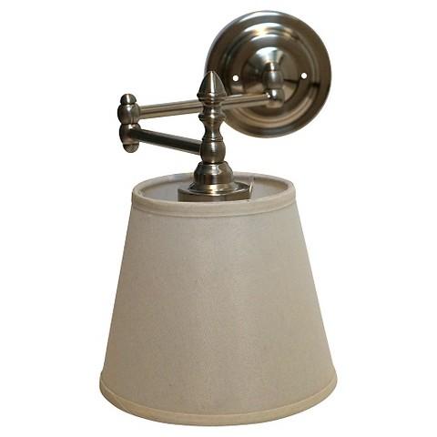 Swing Arm Reading Light W Remote Satin Nickel Target