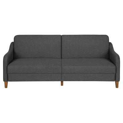 Jasper Coil Linen Futon - Grey
