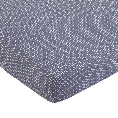 Balboa Baby Cotton Sateen Fitted Crib Sheet - Slate & White Dot