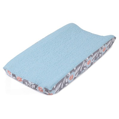 Balboa Baby Quilted Changing Pad Cover - Aqua & White Dot