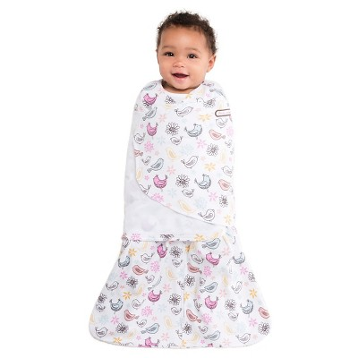HALO ® SleepSack® Swaddle 100% Cotton - Pink Bird - SM