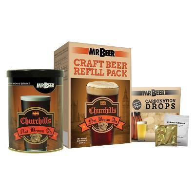 Mr. Beer Churchills Ale Refill Kit - Brown