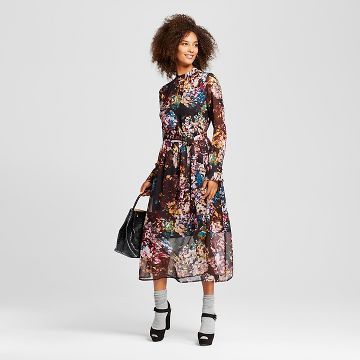 Women's Printed Midi Dress - Who What Wear ™