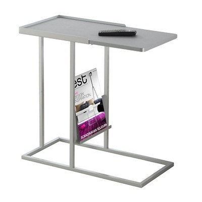 Accent Table with Magazine Rack - Grey - Monarch Specialties