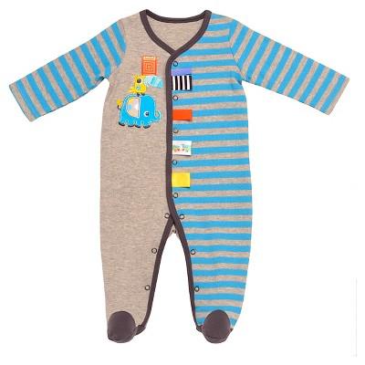 Taggies™ Baby Boys' Elephant Sleep N' Play - Heather Grey/Turquoise 3M