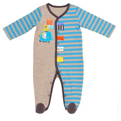 Taggies™ Baby Boys' Elephant Sleep N' Play - Heather Grey/Turquoise 6M