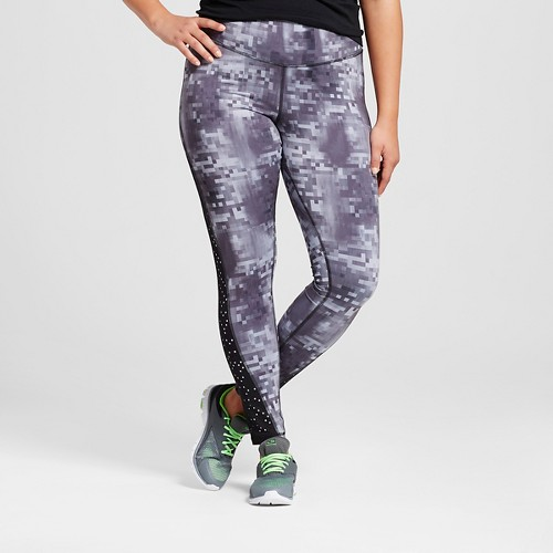 582ade425353 Women s Plus-Size Embrace Laser Cut Leggings Black Military Gray ...