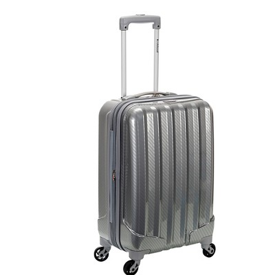 "Rockland Melbourne Expandable ABS Carry On Luggage - Sterling (20"")"