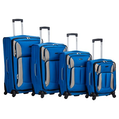Rockland Impact 4pc Spinner Luggage Set - Blue