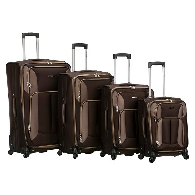 Rockland Impact 4pc Spinner Luggage Set -Brown