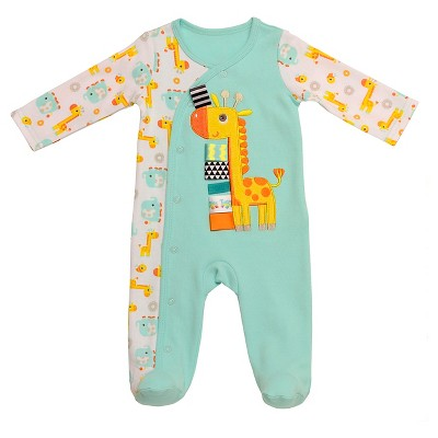 Taggies™ Baby Giraffe Sleep N' Play - Aqua/White 3M