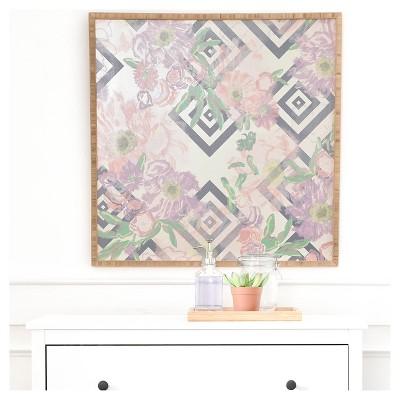 "DENY Designs Khristian A Howell Bouquet In Neutral Framed Wall Art 20x20"""