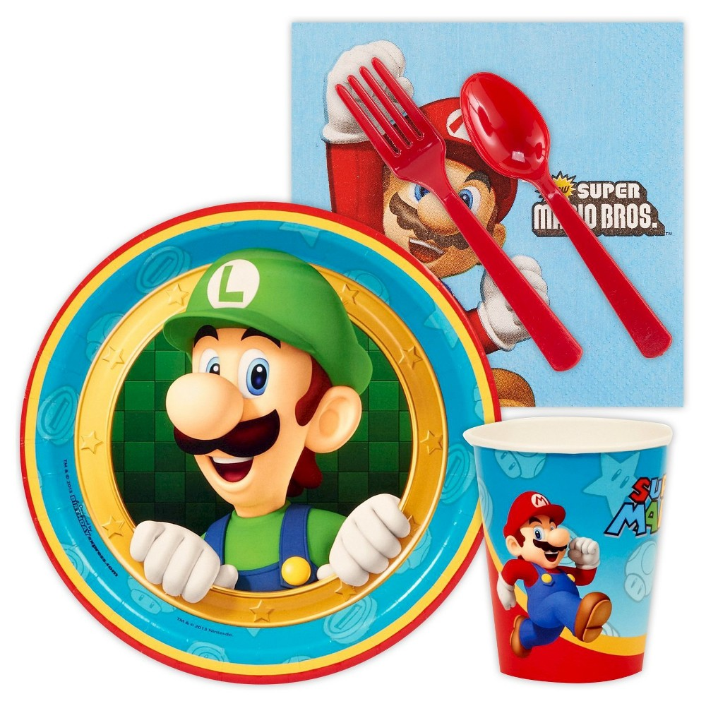Party Kit Multi-colored Super Mario BuySeasons, Multi-Colored Snack Pack