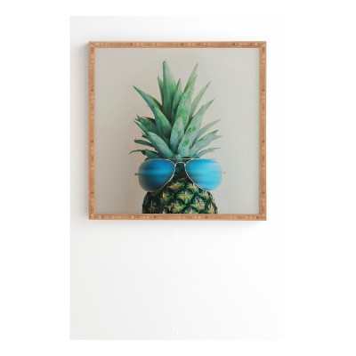 DENY Designs Chelsea Victoria Pineapple In Paradise Framed Wall Art 12x12""