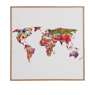 DENY Designs Bianca Green Its Your World Framed Wall Art 30x30""