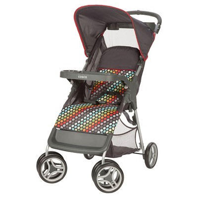 Cosco Lift & Stroll Stroller in Rainbow Dots