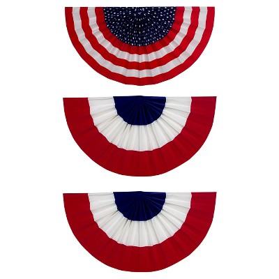 "American Flag Bunting Set 3 pk - 18"" x 36"""