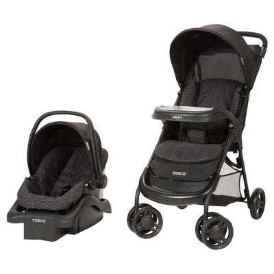 Cosco Lift & Stroll Travel System in Black Arrows