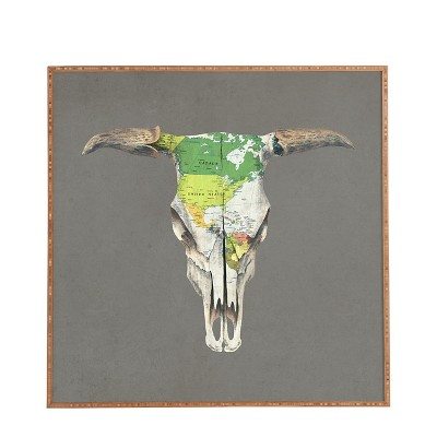 "DENY Designs Terry Fan Go West Framed Wall Art 20x20"""
