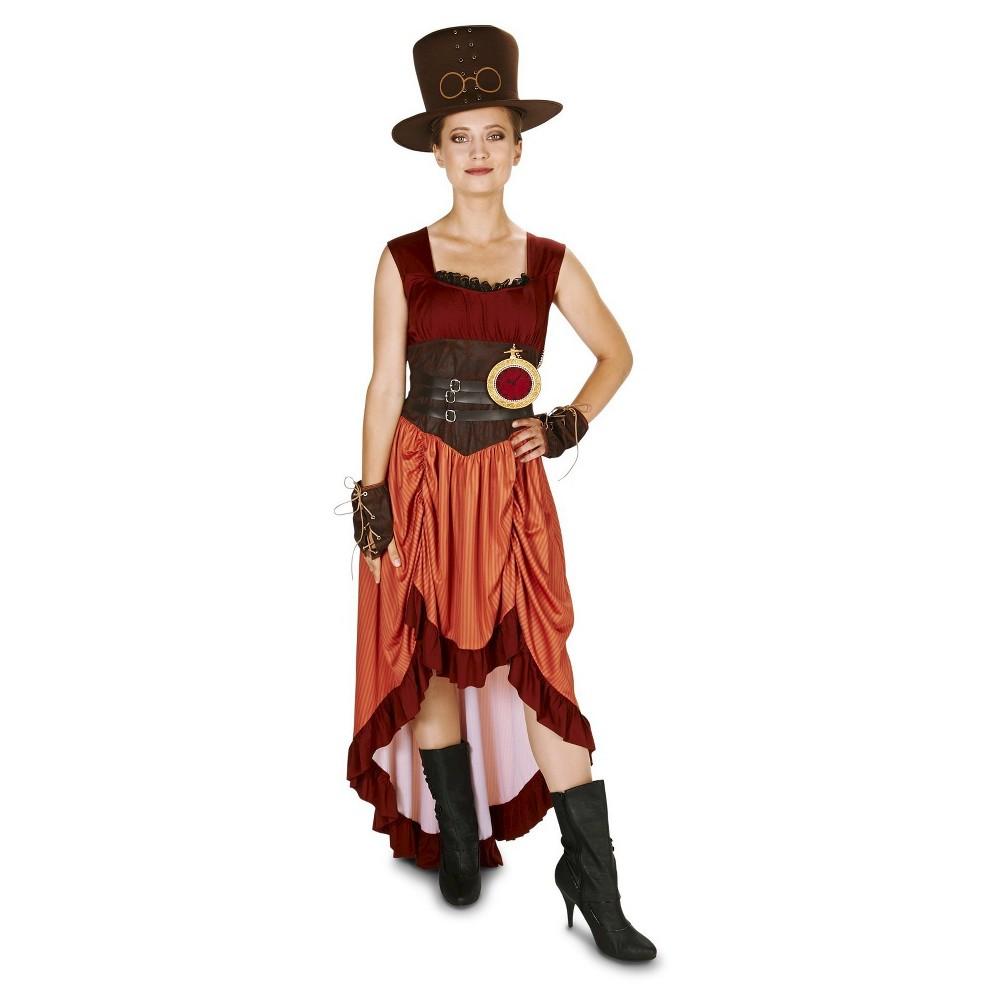 Steampunk Matron Women's Costume Medium, Multi-Colored
