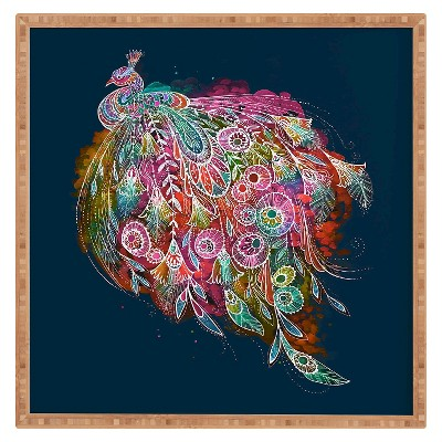 DENY Designs Stephanie Corfee Tail Feather Framed Wall Art 12x12""