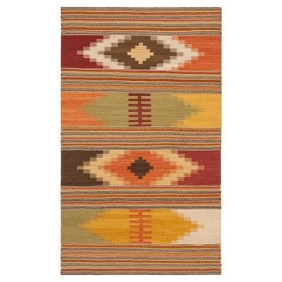 Navajo Kilim Rug - Red/Multi-Colored - (2'x3') - Safavieh