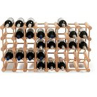 25 Steel Bottle Stackable Grid Wine Rack Black - The Wine Enthusiasts