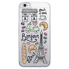 iPhone 6/6S Clear Case - Bonjour Paris - White