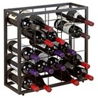 Stackable 25 Bottle Grid Wine Rack  Black Steel -The Wine Enthusiasts