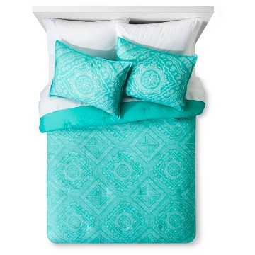 Green Dotted Medallion Printed Comforter Set - Xhilaration™