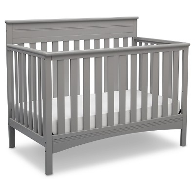 Delta Children Fabio 4-in-1 Standard Full-Sized Crib - Grey