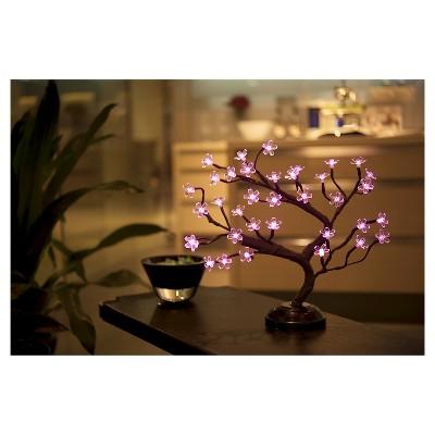 "Lightshare Cherry Blossom Bonsai Light 16"" 36 LED Battery Powered - Pink Lights"