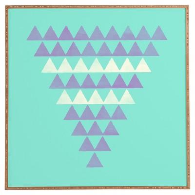 "DENY Designs Allyson Johnson Purple Triangles Framed Wall Art 12x12"""