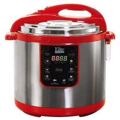 Elite Platinum 10 Qt. Electric Pressure Cooker - Red
