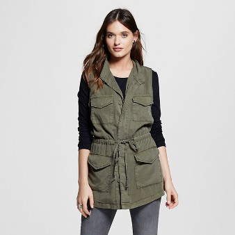 Women's Cargo Vest Dark Green  - Mossimo